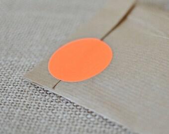 50 Fluorescent circle, neon orange sticker, size 40mm, geometric shape, preserves labels, autumn decoration, orange party decor
