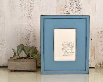"5x7"" Picture Frame in Wide Cottage Style with Vintage Black under Smokey Finish - IN STOCK - Same Day Shipping - 5 x 7 Photo Frame"