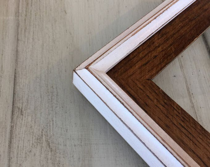 Vintage Color of Your Choice in White Build Up Style - Choose your small frame size 3x3, 2x6, 3.5x5, 4x5, 4x6, 5x7, 5x5, 6x6, 6x8, 7x7, 4x10