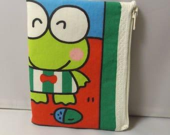 Sanrio Keroppi Frog Fabric Coin Purse / Pouch-Handmade Hello Kitty