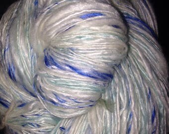 "230 Yards Handspun  Silk/Merino Yarn ""Catalina"""