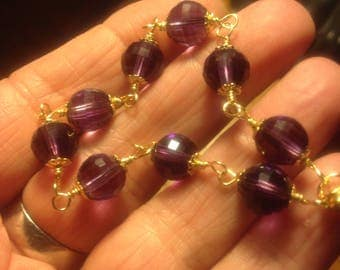 SOLD ---Handmade 14k Gold Filled Amethyst Bracelet