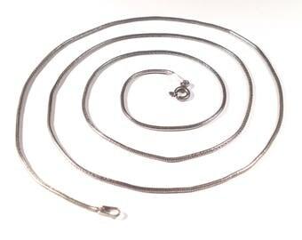 "16"" Italian Sterling Silver Snake Chain -1.5mm"