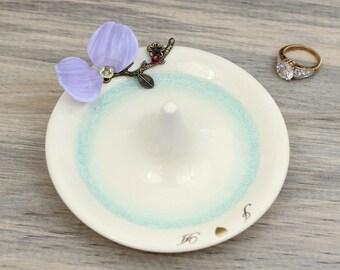 custom ring holder, engagement ring dish, wedding ring dish