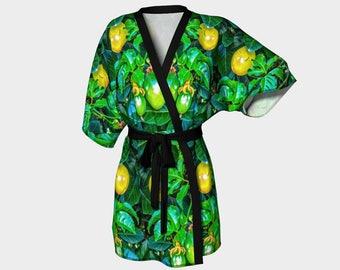 Hanging Fruit Kimono Robe
