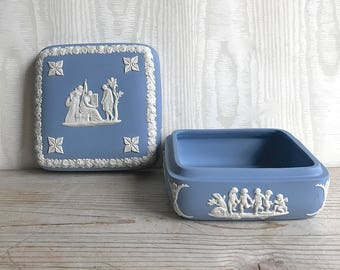Wedgewood Jasperware Blue Trinket Box