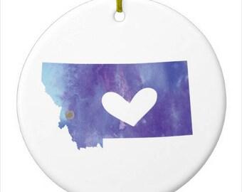 Montana Christmas Ornament