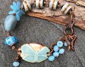 Butterfly Kisses Bracelet, Word Bracelet, Butterfly Bracelet, Boho Jewelry, Earthy Jewelry, Spiritual Jewelry, YaYJewelry