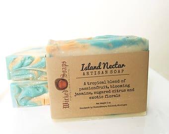 Island Nectar Artisan Soap - Handmade Soap, Silk Soap, Coconut Milk Soap