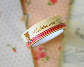07 Rilakkuma Bear Cartoon Washi Masking Tape