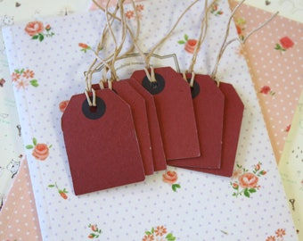 Brick Red Medium Luggage tags craft label blanks