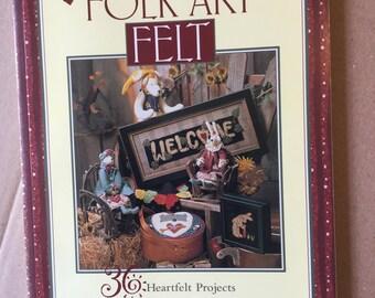 Folk Art Felt Instruction book 36 projects