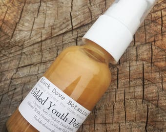 Gilded Youth Facial Serum... A Golden Silky Potion Of Powerful Antioxidants