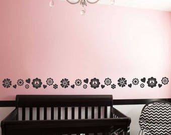 Teen Girl Accent Border, Vinyl Wall Lettering, Vinyl Wall Decals, Vinyl Decals, Vinyl Letters, Wall Quotes, Girls Room, 16 Foot