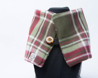 The Neck Wrap Muffler by Bici Chica LA - Red Plaid