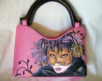 hand painted silk bag