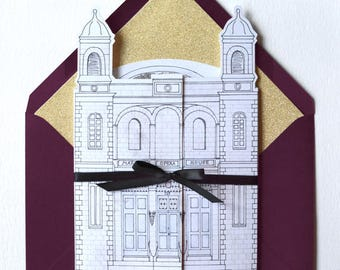 Locale - Illustrated Venue Invitation - SAMPLE ONLY (Price is not full order per unit price, see description)