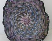 Beautiful Hand Blown Glass Art Wall Platter Bowl 8301 ONEIL