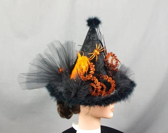 Witch Hat Centerpiece, Halloween Tree Topper, Childs Witch Hat, Halloween Decor, Halloween Decorations, Halloween Table Decor