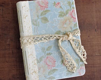 Victorian Roses Wedding Guest Book or Vintage Victorian Botanical Photo Album, 6x9 {READY TO SHIP}