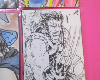 Wolverine Xmen aceo by boo rudetoons marvel avengers