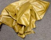 6-831.  Golden Caramel Leather Cowhide Partial
