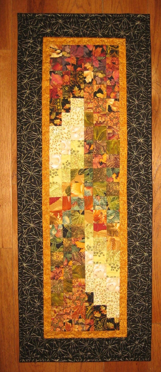 Earth Tones Contemporary Art Quilt Fabric Wall Hanging Textile ...