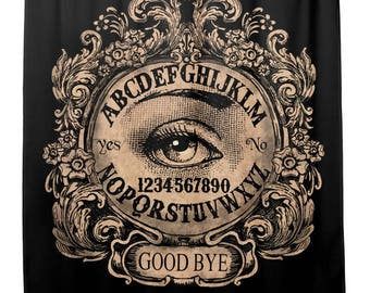 Ouija with Mystic Eye Shower curtain