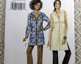 ON SALE Vogue 9010, Misses' Tunic and Pants Sewing Pattern, Easy Tunic Pattern, Easy Pants Pattern, Misses' Size 6, 8, 10, 12, 14, Uncut