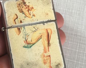 Vintage Pin Up Woman Lighter