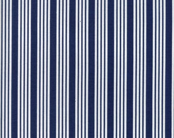 Floral Stripe Navy from The Good Life by Bonnie and Camille for Moda Fabrics