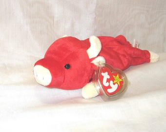 TY Beanie Baby Snort the Bull with errors - 102e