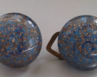 Vintage Murano Glass Clip On Earrings