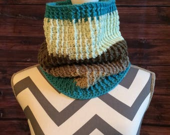 Crochet ribbed infinity scarf/cowl
