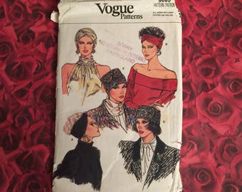 80's Vintage Hat Sewing Pattern