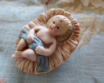 vintage BABY JESUS -Creche, Christmas, ceramic
