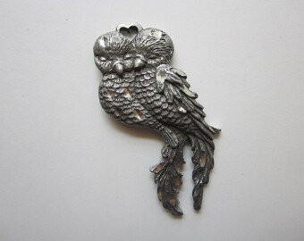 vintage RAWCLIFFE Pewter pendant or ornament - LOVEBIRDS - 1995