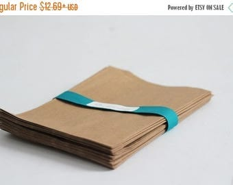 ON SALE 100- 4x6 inch Kraft Paper Bags |candy buffet bags, flat paper bags, merchandise bags, kraft paper favor bags, blank paper bags