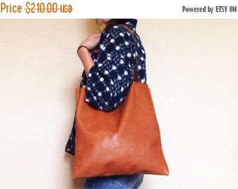 summer sale Supple Brown Leather Tote Bag - Brown Leather Bag - Leather Laptop Bag