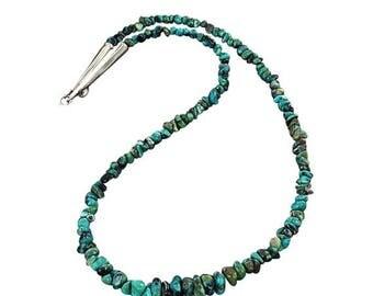 Clearance Sale Primavera Stone Necklace #3 Blue