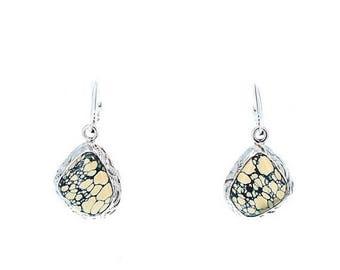 Summer Sale : ) NEW LANDER TURQUOISE Earrings Sterling Free Form NewWorldGems