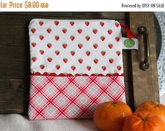 "On Sale Eco friendly 7.5"" Reusable Sandwich Bag - 7.5"" x 7.5""- Food safe PUL lined, Zippered, Machine Washable"