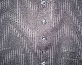 Men's Pin Stripe Vest Size 40  UNDER 20 Navy eith Pale Blue