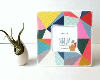 Instagram Frame, Geo Storm Picture Frame - Photo Frame, Picture frames, Unique Frames, Geometric Shapes, Color Blast, Fun and Bright