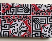 Asian Red and White Traditional Pattern Fabric 1.5 YARDS