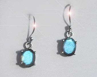 Northern Lights - Beautiful Faceted Labradorite and Sterling Silver Earrings
