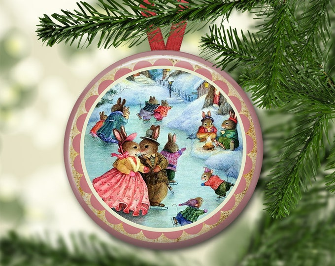 """3.5"""" holiday ornaments for tree - vintage christmas tree decoration - holiday refrigerator magnets for the kitchen - kitchen decor ORN-48"""