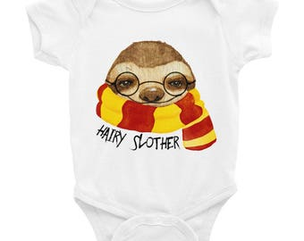 Hairy Slother / Cute Sloth Baby Onesie / Infant Bodysuit / Adorable baby sloth / Slothnation / Baby shower / Paresseux / Funny Sloth
