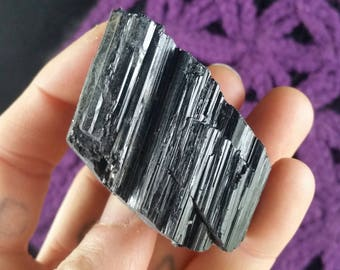 Raw Natural Black Tourmaline Crystal Cluster Stones Crystals Rough Protection Schorl Haystack