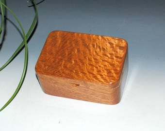 Small Box with Tray in Mahogany and Lacewood - Desk Box, Office Acessory, Gift For Men - Handmade in the USA by BurlWoodBox - Small Wood Box